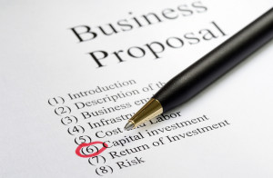 Focus on the main topics of a business proposal